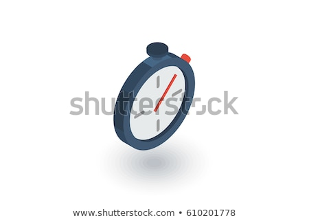 Stopwatch isometrische icon vector teken kleur Stockfoto © pikepicture