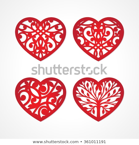 die with hearts Stock photo © marinini
