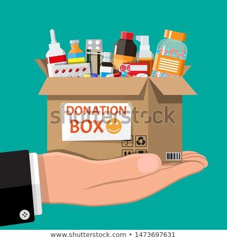 Prescrição doação caixa saúde medicina Foto stock © devon