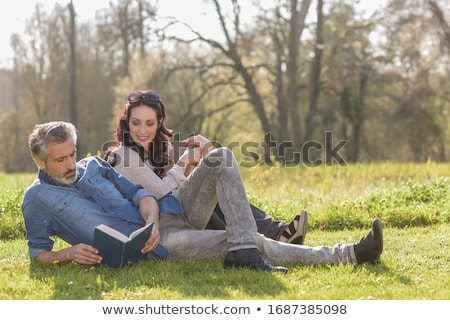 Middle-aged couple laying together Stock photo © photography33