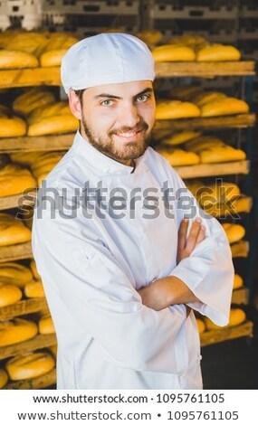 Retrato jóvenes Baker nina trabajo tienda Foto stock © photography33