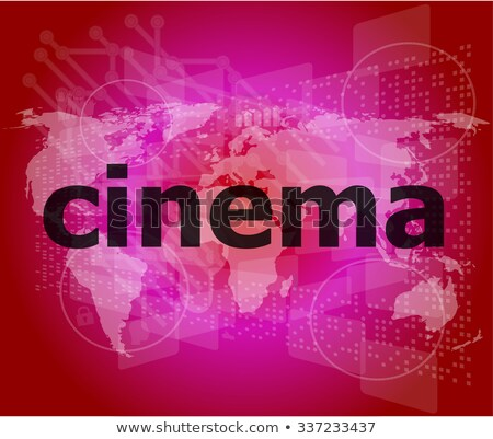 Video Word On Digital Screen With World Map Stock fotó © fotoscool