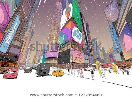 járda · gyalogosok · közelkép · tégla · festett · illusztráció - stock fotó © eldadcarin