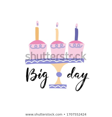Doğum günü tebrik kartı kız büyük örnek Stok fotoğraf © balasoiu