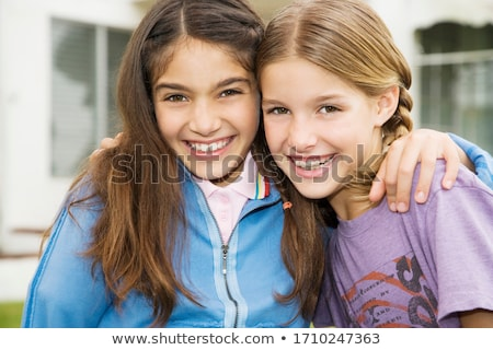 Dois atraente morena branco menina Foto stock © bartekwardziak