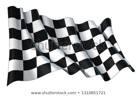 waving the checkered flag stock photo © songbird