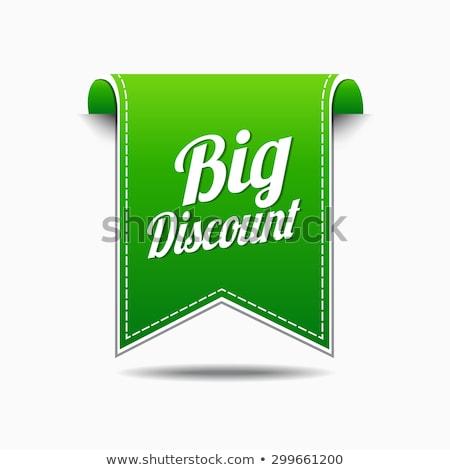 ビッグ · 割引 · 緑 · ベクトル · アイコン · デザイン - ストックフォト © rizwanali3d