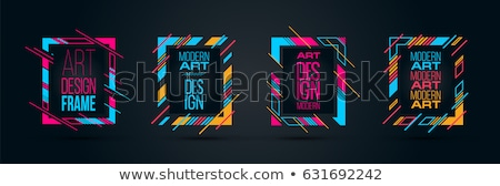 abstract · modieus · gestreept · vector · exemplaar · ruimte · yo - stockfoto © mcherevan