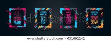 Absztrakt vektor keret kék csíkok terv Stock fotó © mcherevan