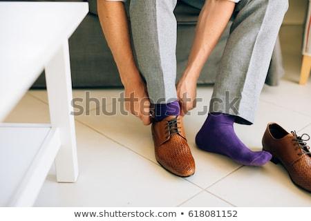 пару Purple мужчины носки белый Сток-фото © shutswis
