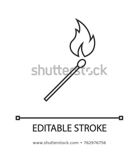 Icons with a flaming match stick Stock photo © bluering