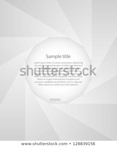 Photo diaphragm open over white Stock photo © blotty