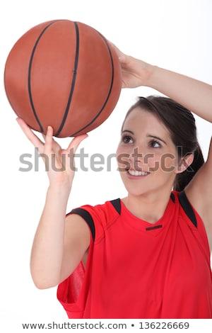 Close up portrait of female basketball player Stock photo © wavebreak_media