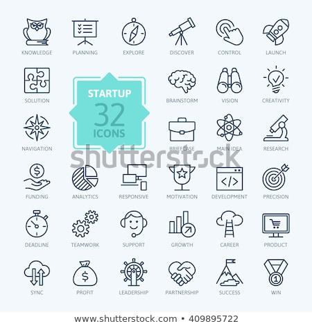 raket · icon · abstract · illustratie · logo - stockfoto © rastudio