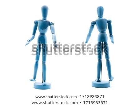 Estatueta em pé mãos de volta branco Foto stock © wavebreak_media