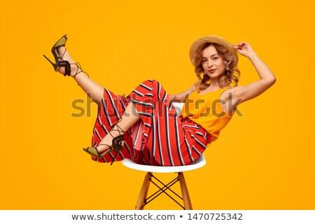 mooie · vrouw · hoofddoek · portret · mooie · mysterieus · vrouw - stockfoto © feedough