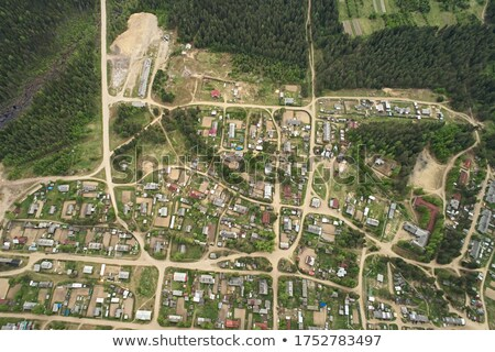 Russia City map Abstract. Russian Town background. Road and stre Stock photo © popaukropa