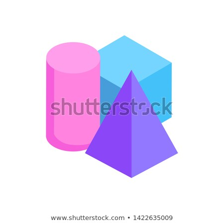 Isometric Geometric Colorful Figures Exposition Stock photo © robuart
