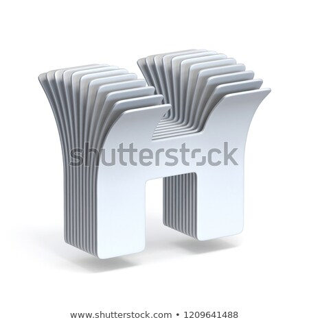 Curved paper sheets Letter H 3D Stock photo © djmilic