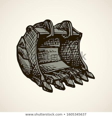 állvány teherautó kézzel rajzolt skicc firka ikon Stock fotó © RAStudio