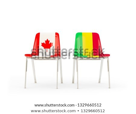 two chairs with flags of canada and mali stock photo © mikhailmishchenko