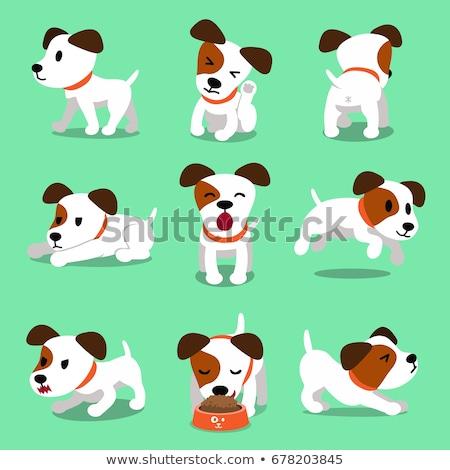 spotted puppy cute cartoon character Stock photo © izakowski