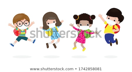 cartoon elementary school children group Stock photo © izakowski