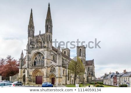 Manastır Fransa bir şehir kilise bulut Stok fotoğraf © borisb17