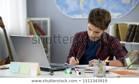 school knowledge pupils writing in notebook study stock photo © robuart
