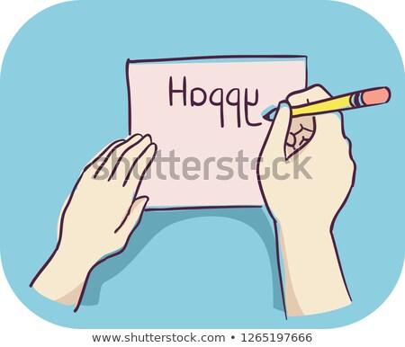 Hand Symptom Reverse Letter Illustration Stock photo © lenm