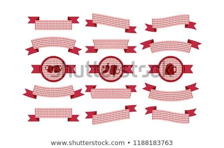 Oktoberfest simple ribbon for banner and headline Stock photo © barsrsind