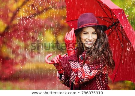 Headshot of cute young woman dreaming Stock photo © dariazu
