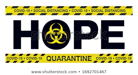 Coronavirus COVID-19 Hope Police Tape Illustration Stock photo © enterlinedesign
