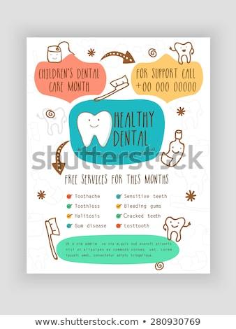 Zahnpflege kreative Werbung Plakat Vektor Zahnbürste Stock foto © pikepicture