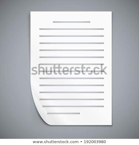 Größe Text Dokument Symbol Schatten grau Stock foto © evgeny89