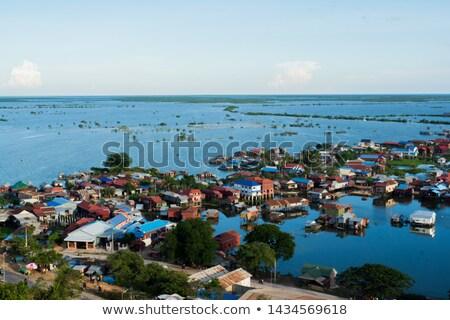 Lebeg falu Kambodzsa nyár nap víz Stock fotó © bloodua