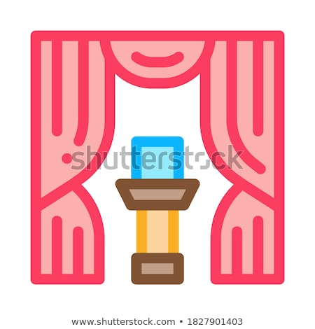 auction appearance icon vector outline illustration Stock photo © pikepicture