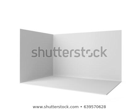Egyszerű fülke vázlat 3d illusztráció izolált fehér Stock fotó © montego