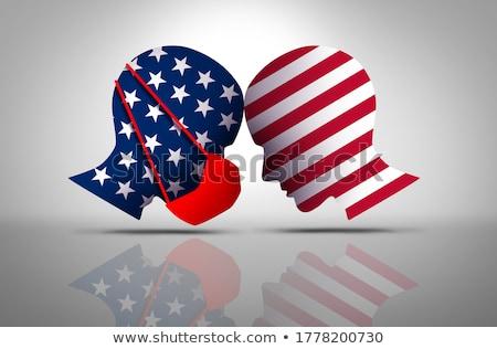 Masque débat politique guerre masques Photo stock © Lightsource