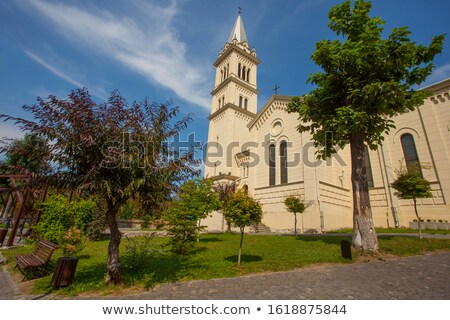 church spire in sighisoara romania Stock photo © travelphotography