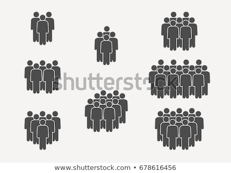 Group of people with an at sign Stock photo © rufous