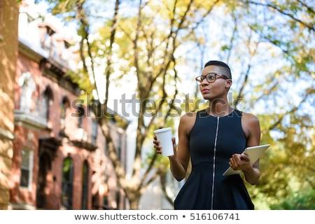 dynamique · femme · d'affaires · blond · affaires · entreprise - photo stock © smithore