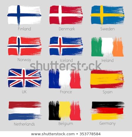 Гранж флаг Исландия старые Vintage гранж текстур Сток-фото © HypnoCreative