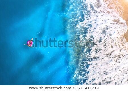 красивой синий морской пейзаж солнце воды Сток-фото © olgaaltunina