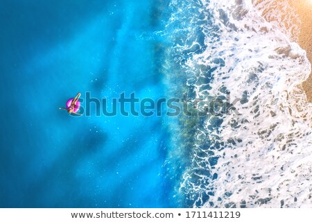 Mooie Blauw zeegezicht zon water Stockfoto © olgaaltunina