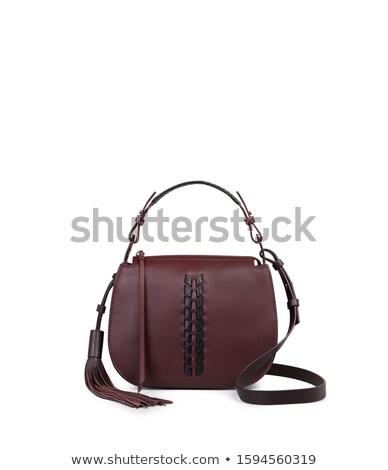 Wollen portemonnee geïsoleerd witte papier vrouwen Stockfoto © shutswis