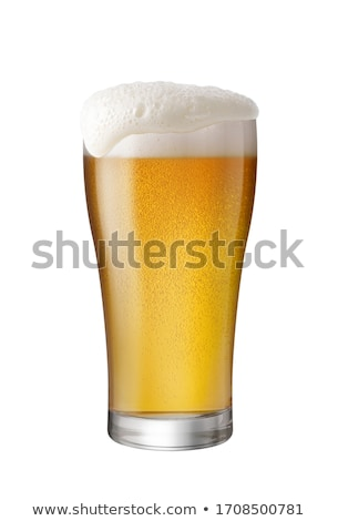 Frosty glass of light beer isolated on a white Stock photo © shutswis