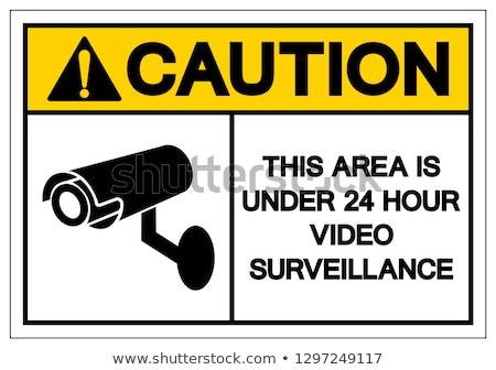 cctv labels set symbols video surveillance vector illustration stock photo © ecelop