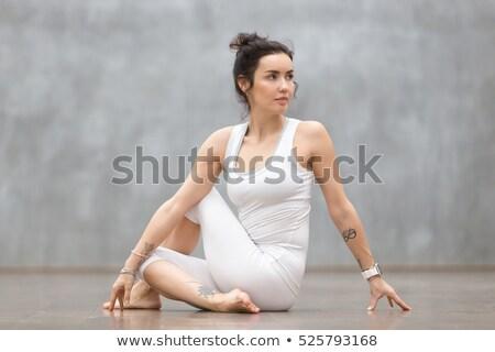 肖像 フィット 女性 位置 白 ボディ ストックフォト © wavebreak_media