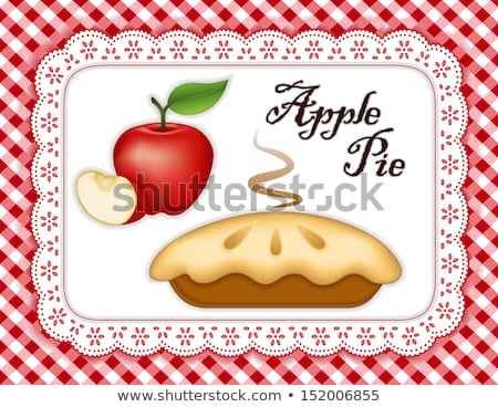doily mats and apple Stock photo © kovacevic